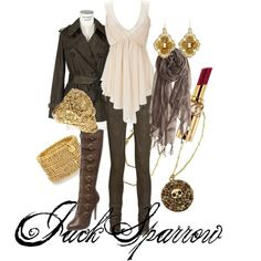 Jack Sparrow (love this one too). Would wear everything but the boots (I'd break my neck in those). I'd find a diffrent pair of boots to go with it.