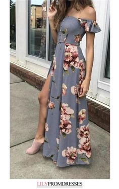 This dress could be custom made, there are no extra cost to do custom size and color, A line Off the Shoulder Simple Cheap Flower Pattern Prom Dresses Long Evening Dresses Split Prom Dresses, Burgundy Homecoming Dresses, Prom Dresses With Pockets, Pink Prom Dresses, Cheap Evening Dresses, Cheap Prom Dresses, Summer Dresses For Women, Tight Dresses, Cute Dresses