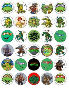 2 Printable Teenage Mutant Ninja Turtles Cupcake By