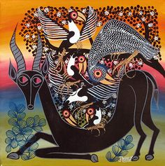 Indigo Arts Gallery | Art from Africa | Tinga Tinga Paintings from Tanzania