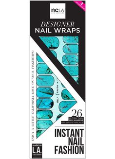 Truth in Turquoise - Get your boho heart in festival season with these turquoise, stone inspired nail wraps