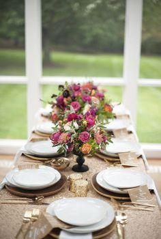 beautiful fall table setting