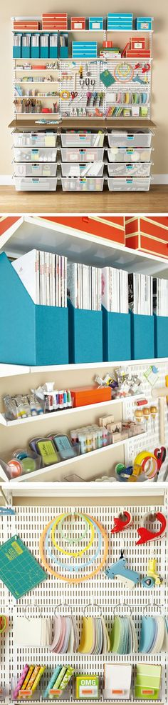 Loving this organized craft room