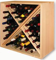 Casiers à bouteille, casier vin, rangement du vin, aménagement cave, casier bois
