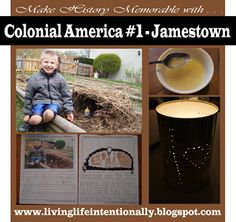 Idea for teaching about Colonial America - Jamestown. It includes resources, project ideas, and free download