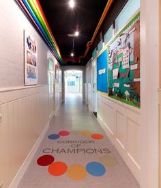St John's Primary School in Kent has a bold and colourful new entrance area and corridor created using Altro XpressLay safety flooring, originally laid at Olympics venues for London 2012.