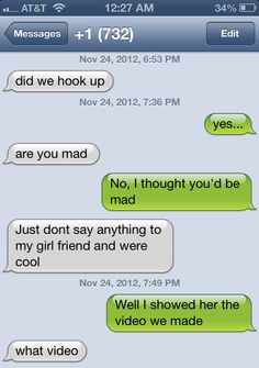 Funny things to say about hookup