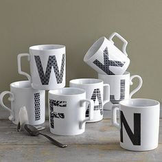 Super cute alphabet mugs from west elm