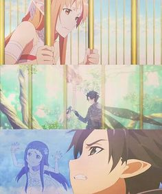 Sword Art Online - Asuna, Kirito & Yui
