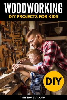 Woodworking can be an activity you can bond over with your kids. Click on for 26 of the best woodworking projects that are kid-friendly. Many of these projects do not require fancy power tools. Enjoy!