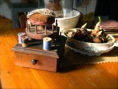 vintage pincushion w/sewing box