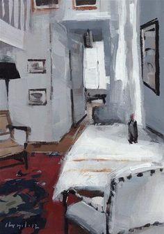 """White Flat - Quick Study"" - Original Fine Art for Sale - © David Lloyd"