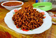 Sambal goreng tempe - crispy fried tempeh