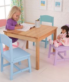 Another great find on #zulily! Four-Piece Seaside Table & Chair Set #zulilyfinds