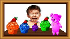 Bad baby Crying ||learn colors with|| Gummy Bear Finger Family|| Cup cak...
