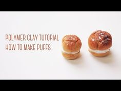 How to make Mini Puffs - Polymer Clay Tutorial 迷你泡芙黏土教學 - YouTube