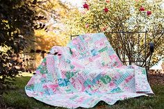 The Rosewater Patchwork Quilt - Free PDF Pattern