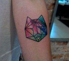 origami wolf tattoo