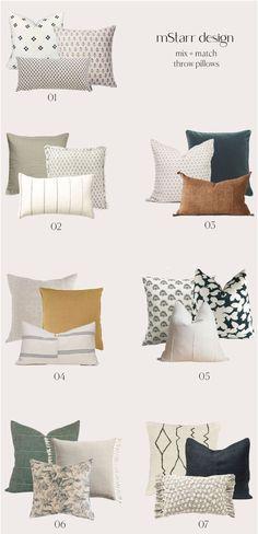 How to Mix + Match Throw Pillows — mStarr design