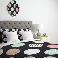 Mary Beth Freet Happy Dots Duvet Cover | DENY Designs Home Accessories