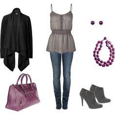Grey and Black!! Plus a purple purse..