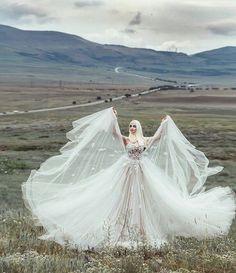 Amazing hijab wedding dress