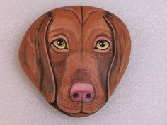 Custom Dog Face Hand Painted Portrait on by ArtHorizonsStudio