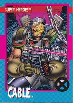 Marvel Super Heroes Cable Trading Card - Jim Lee