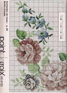 Cross Stitch Boards, Cross Stitch Rose, Cross Stitch Flowers, Cross Stitch Embroidery, Cross Stitch Patterns, Bordado Floral, Rico Design, Blackwork, Needlepoint