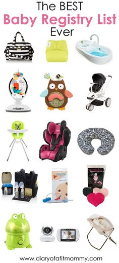 The BEST Baby Registry List Ever: Creating the perfect registry can be overwhelming, time consuming and costly. Skip the mistakes of a first time mom and discover what baby items you actually need!