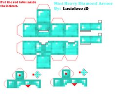 Papercraft Mini Heavy Diamond Armor ^-^