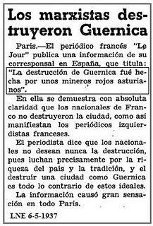 """Los marxistas destruyeron Guernica"" #Gernika #bombardeo #bonbardaketa #26abril1937"