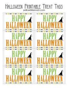 Free printable of the day thanksgiving gifts for staff halloween treat tags free printable negle Image collections