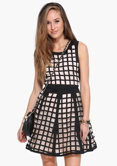 Caged Beauty Dress in Peach   Necessary Clothing