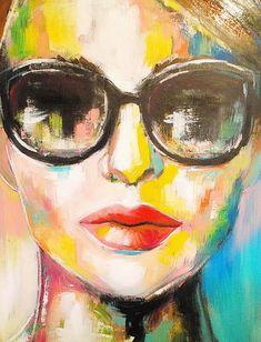 Custom dresses and art couture, Marion Nap Veendam Abstract Faces, Abstract Portrait, Portrait Art, Abstract Paintings, Arte Pop, Tableau Pop Art, Claude Monet, Face Art, Art Techniques