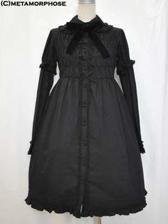 metamorphose  Shirred Dress with Detachable Sleeves (Solid Color)