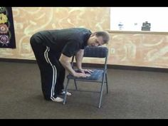 Chair Yoga Promotes Student Safety: Standing Forward Fold - Yoga Teacher Training Blog.  *** Chair Yoga classes can be enormously helpful for many of those yoga students who need modifications and supportive props, in order to practice safely.