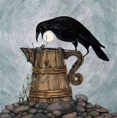 "Crows Ravens: ""The #Crow and the Pitcher (Aesop Series),"" by Arlene Graston."