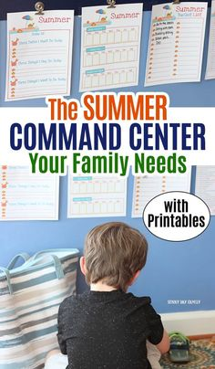 Help kids transition to summer with this summer family command center! Use these summer activity planner printables to create an amazing command center for kids. Help kids be independent and manage chores, free time, and summer fun with this visual guide. Summer Fun For Kids, Summer Activities For Kids, Family Activities, Learning Activities, Summer Schedule, Kids Schedule, Transformers, Family Command Center, Command Centers