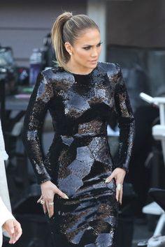 sparkles jlo dress black