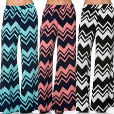 Chevron Palazzo Pants (em16) How to BUY, comment below with size and color. We'll create a separate listing for you to purchase. Thank you  Product Description: 100% polyester made in USA  Fit: S (4-6) M (8-10) L (12-14)  Shipping: Ships within 4-7 business days.  Terms: Final sale. 10% off bundles. No trades. No holds. We offer our lowest and best prices upfront. Just Modest Pants Wide Leg