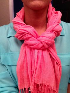 Cute way to tie your scarf! :-)