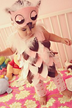 I think this is going to be Keira's Halloween costume this year! Her nickname is Wooter or Woots and I'm obsessed with owl stuff for her! Owl Halloween Costumes, Fete Halloween, First Halloween, Cute Costumes, Halloween 2014, Baby Costumes, Holidays Halloween, Halloween Kids, Owl Costume Kids