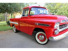 Gorgeous! 1959-chevy-apache.... This reminds me of my Daddy's Truck that he use to have.