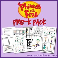 Phineas and Ferb Pre K Pack