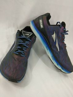 b708c17f7e52 Altra Mens Impulse Flash Running Shoes size 12 Black Blue Pre owned   fashion