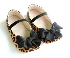 Baby Girl Crib Shoes, Leopard Baby Shoes, Animal Print Baby Booties, Brown, Baby Girl Clothes, Little Serah. $28.50, via Etsy.
