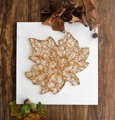 'string art' Ahornblatt | maple leaf