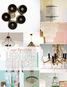 our favorite lighting sources | the handmade home