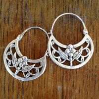 Handmade Sterling Silver Earrings From Michoacan, Mexico